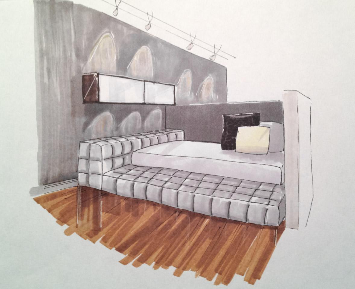 Un loft de 590 pour 4 personnes for Perspectives dune chambre