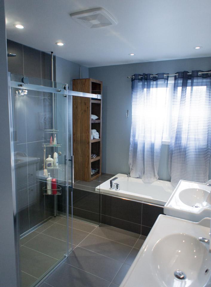 Lumineuse for Muret salle de bain