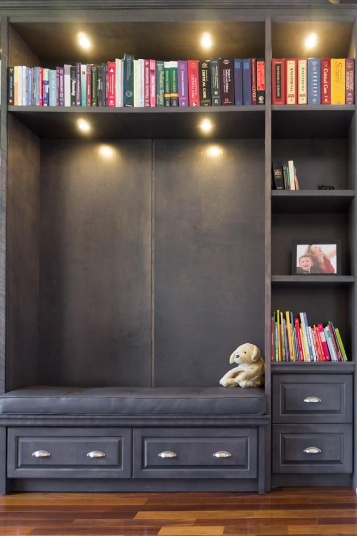 Un meuble polyvalent - Bibliotheque sur mesure montreal ...